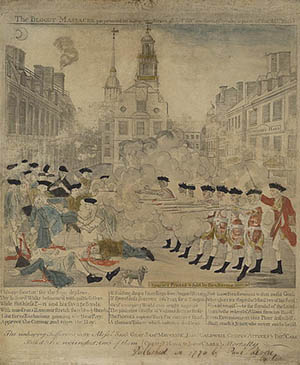 poster of the Boston Massacre