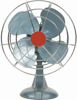 a blue electic fan