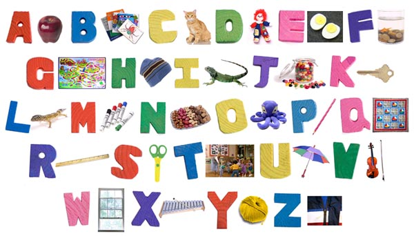 Alphabet letters and images