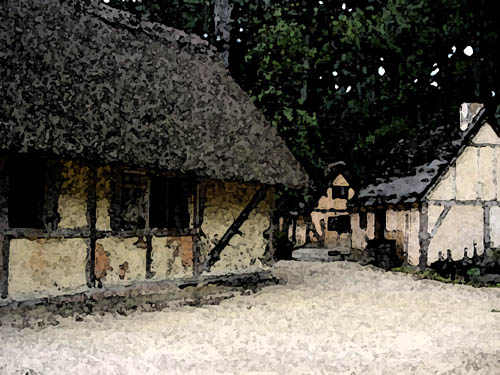 image of a Colonial town