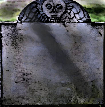 image of an old, blank tombstone