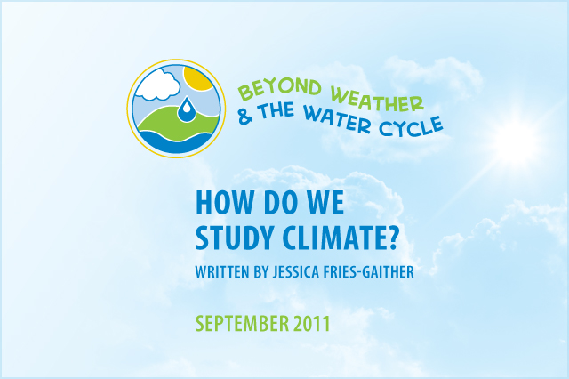 Cover page for How Do We Study Climate?